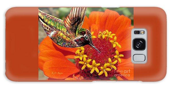 Hummingbird Delight Galaxy Case by Kimberlee Baxter