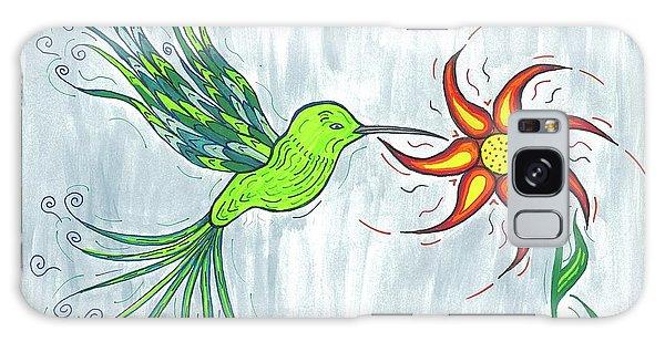 Hummingbird Floral Galaxy Case
