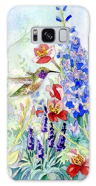 Hummingbird Garden In Spring Galaxy Case by Audrey Jeanne Roberts