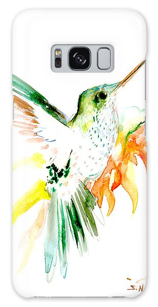 Hummingbird Green Orange Red Galaxy Case