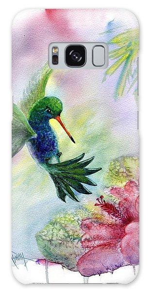 Iridescent Galaxy Case - Hummingbird Happiness by Marilyn Smith