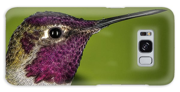 Hummingbird Head Shot With Raindrops Galaxy Case by William Lee