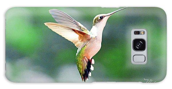 Hummingbird Hovering Galaxy Case by Meta Gatschenberger
