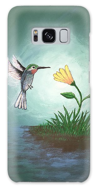 Galaxy Case featuring the painting Hummingbird II by Antonio Romero