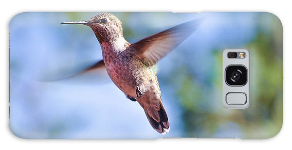 Hummingbird In Flight Galaxy Case