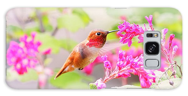 Hummingbird In Spring Galaxy Case by Peggy Collins