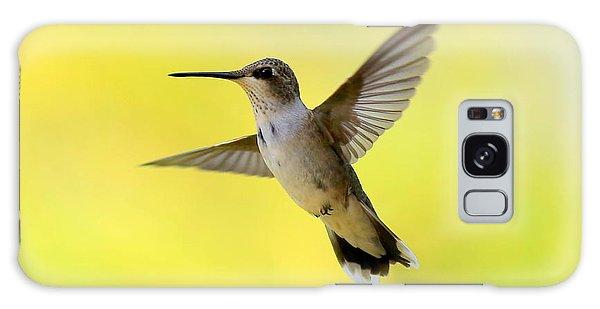 Hummingbird In Yellow Galaxy Case