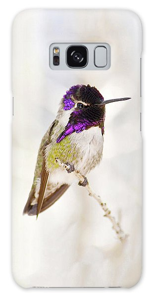 Hummingbird Larger Background Galaxy Case by Rebecca Margraf