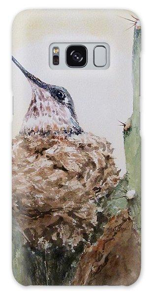 Hummingbird Nesting In Cactus Galaxy Case