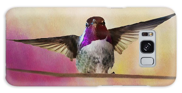 Hummingbird On A Wire Galaxy Case