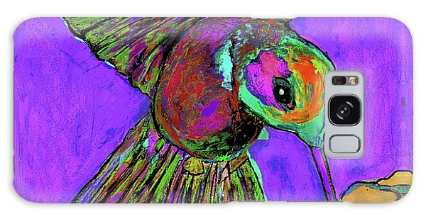Hummingbird On Purple Galaxy Case