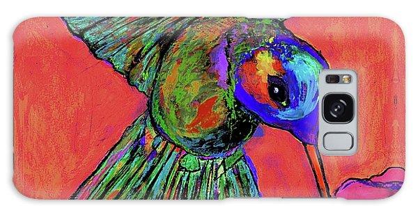 Hummingbird On Red Galaxy Case