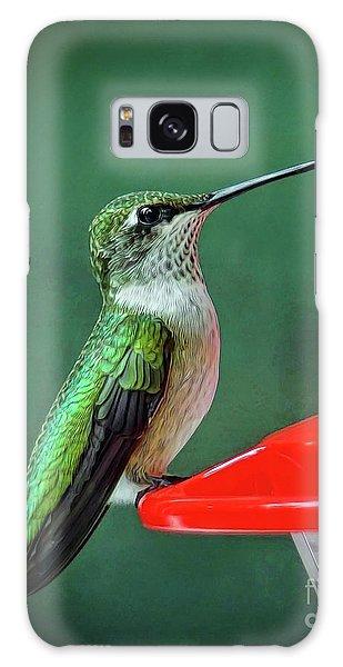 Hummingbird Portrait Galaxy Case by Sue Melvin