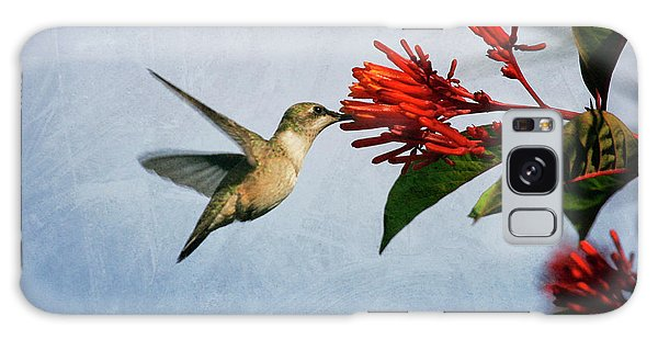 Hummingbird Red Flowers Galaxy Case
