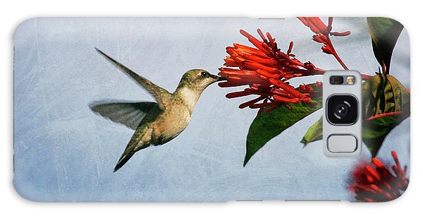 Hummingbird Red Flowers Galaxy Case