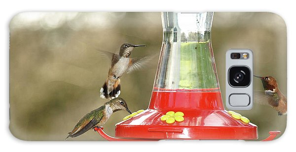 Hummingbird Trio Galaxy Case by Shari Nees