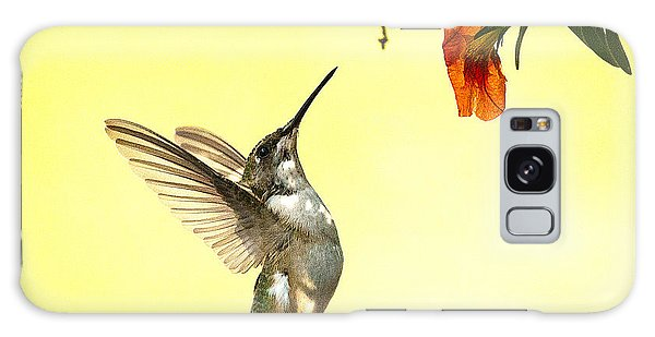 Hummingbird Under The Floral Canopy Galaxy Case