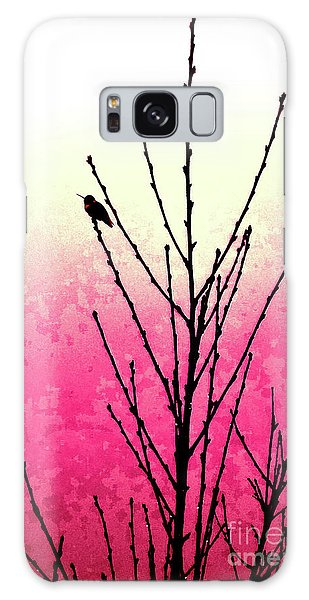 Hummingbird Valentine Galaxy Case