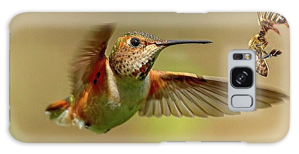 Hummingbird Vs. Bees Galaxy Case