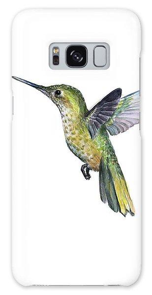 Hummingbird Galaxy S8 Case - Hummingbird Watercolor Illustration by Olga Shvartsur