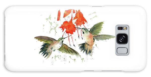 Hummingbird Watercolor Galaxy Case