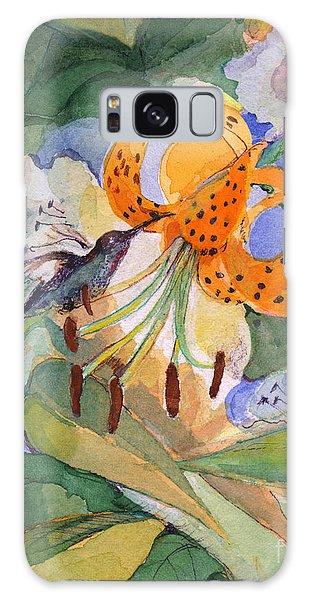 Hummingbird With Flowers Galaxy Case