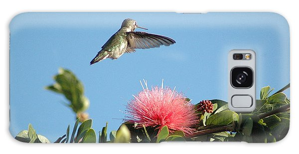 Hummingbird With Pink Flower Galaxy Case