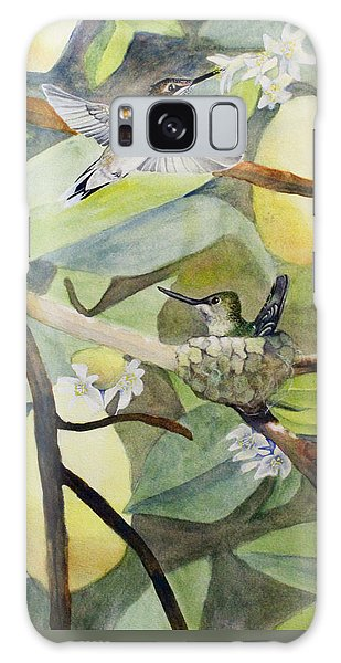 Hummingbirds And Lemons Galaxy Case