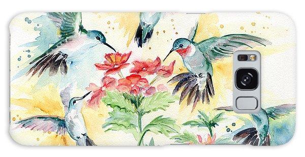 Hummingbirds Party Galaxy Case
