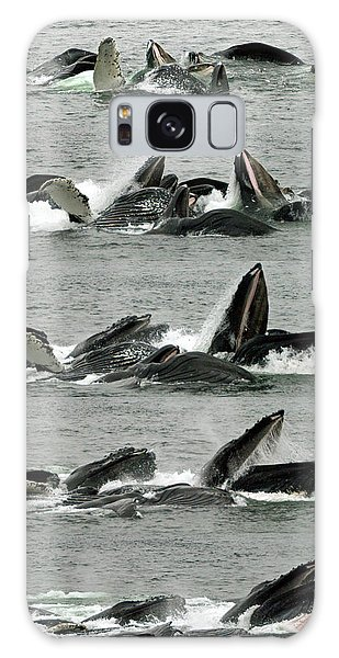 Humpback Whale Bubble-net Feeding Sequence X5 V1 Galaxy Case by Robert Shard