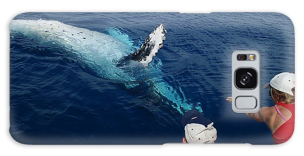 Humpback Whale Reaching Out Galaxy Case by Gary Crockett