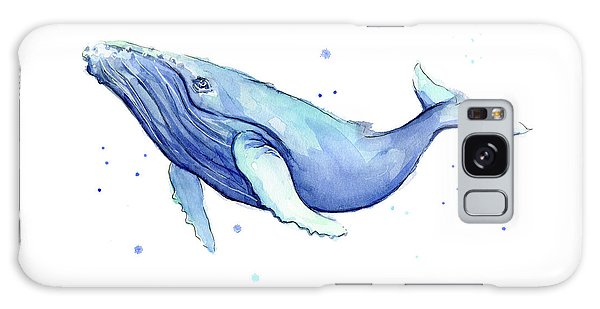Humpback Whale Watercolor Galaxy Case