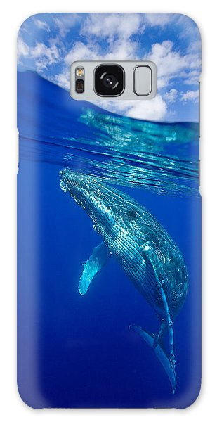 Humpback Whale With Clouds Galaxy Case