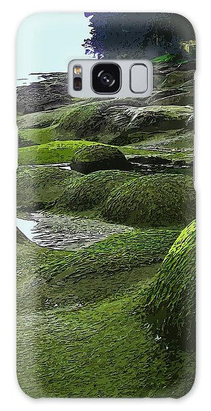 Humps And Bumps, Gabriola Shoreline Galaxy Case