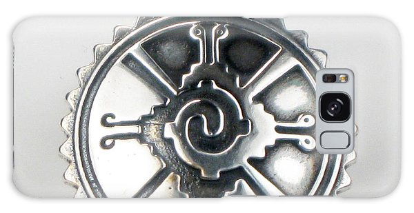 Hunab Ku Mayan Sterling Silver Pendant Galaxy Case