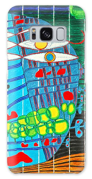 Hundertwasser Blue Moon Atlantis Escape To Outer Space In 3d By J.j.b Galaxy Case