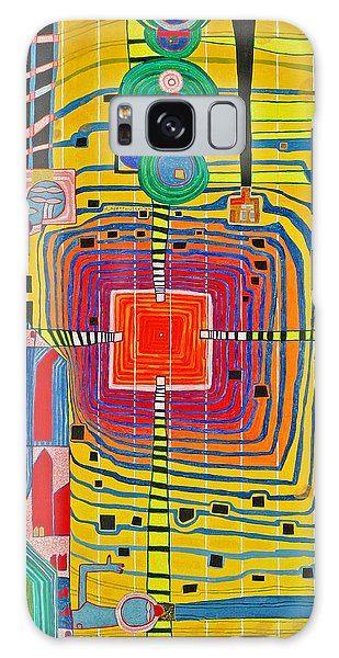 Hundertwassers Close Up Of Infinity Tagores Sun Galaxy Case