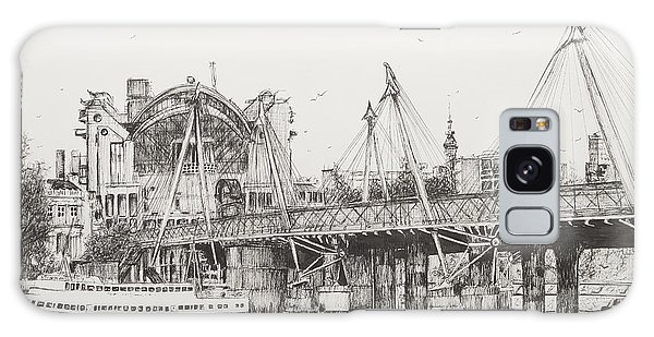 Pen And Ink Drawing Galaxy Case - Hungerford Bridge by Vincent Alexander Booth