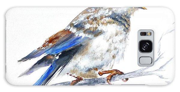 Hungry Fledgling Blue Bird Galaxy Case