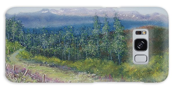 Summer Flowers On Hungry Hill Galaxy Case by Stanza Widen