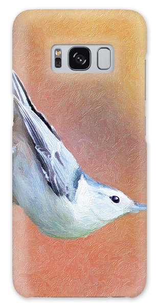 Hungry Nuthatch Galaxy Case