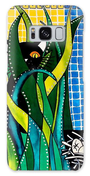 Hunter In Camouflage - Cat Art By Dora Hathazi Mendes Galaxy Case