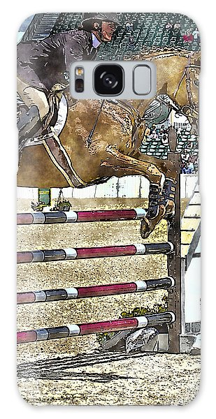 Hunter Jumper Equestrian Galaxy Case by Carrie Cranwill
