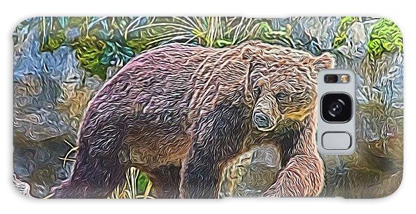 Galaxy Case featuring the digital art Hunting Bear by Ray Shiu