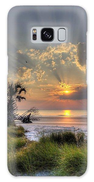 Hunting Island Sc Sunrise Palm Galaxy Case