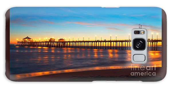 Huntington Beach Pier - Twilight Galaxy Case by Jim Carrell