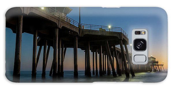 Huntington Beach Pier At Dusk Galaxy Case
