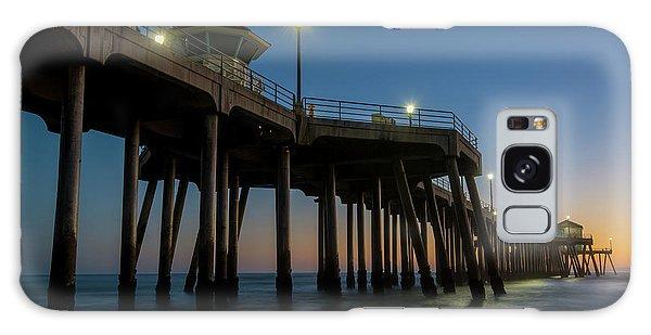 Huntington Beach Pier At Dusk Galaxy Case