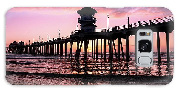 Huntington Pier At Sunset 2 Galaxy Case