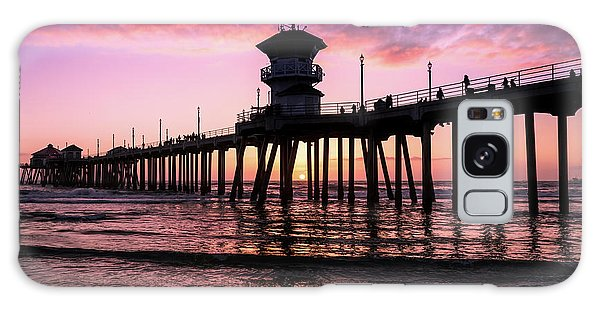 Huntington Pier At Sunset 2 Galaxy Case